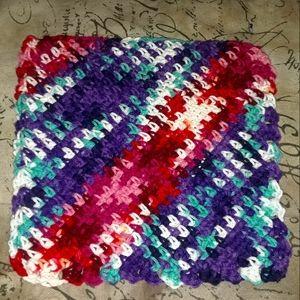 Purple ombre washcloth